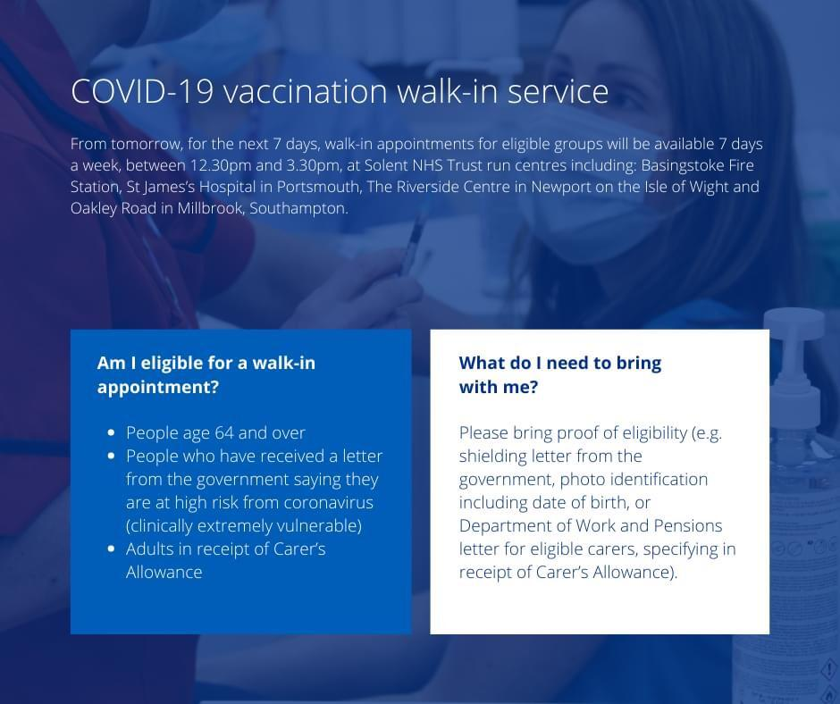 Covid-19 Walk-in Vaccination Service